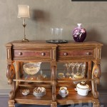 Mirrored Back Console Table