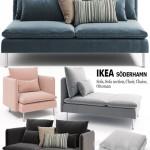Sofas, chairs, couch, ottoman Ikea SODERHAMN