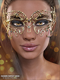 X-Fashion Fantasy Mask for Genesis 3 Females by xtrart-3d