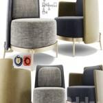 Minotti Tape Armchair Set