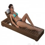 Girl on a deck-chair