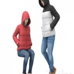 Girl in a jacket with a hood