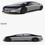 Hum3D Mercedes-Benz Vision EQS 2019 3D model