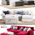 3-seat sofa EKTORP With chaise longue Ikea Corner sofa EKTORP Ikea
