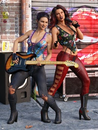 dForce Rock On Outfit Textures