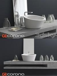 Washbasin with decoration