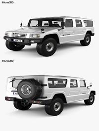 Toyota Mega Cruiser 1996 3D model