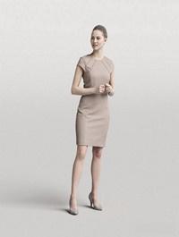 Elegant Woman Standing Scanned 3d model