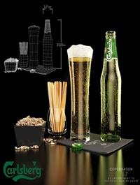 Carlsberg beer and snacks 3D model