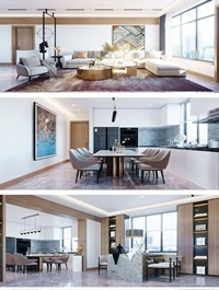 Kitchen Livingroom By LamQuangThang