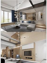 Modern Hong Kong style home improvement renderings Decors & 3D Models Template MAX
