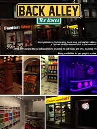 Back Alley The Stores for DS Iray
