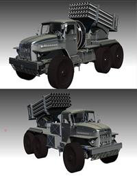 BM-21 Grad 3D model Low-poly 3D model