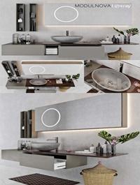Set of bathroom furniture MODULNOVA Infinity Decor