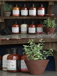 Set of sauces for barbecue