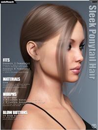 Sleek Ponytail Hair for Genesis 3 and 8 Females