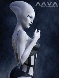 Aava Alien Species for Genesis 3 Female