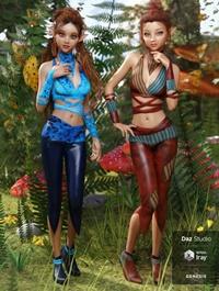 dForce Nimble Elf Outfit Textures