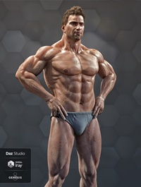 Ronen Character, Hair and Briefs for Genesis 8 Male