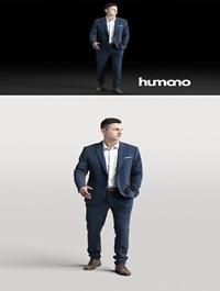 Humano Elegant business man in a suit walking 0102 3D model