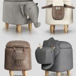 Hippo childrens storage stool