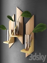Decorative shelves with sheets