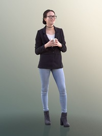 Cgtrader Laura 10738 Standing Business Woman VR AR low poly 3d model