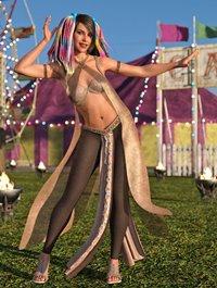 dForce Khamsin Outfit for Genesis 8 Female(s)