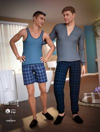 dForce Pajamas for Genesis 8 Male(s)