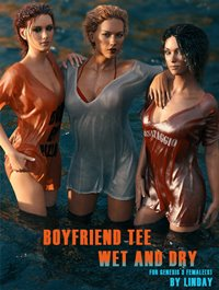 Boyfriend TShirt Wet and Dry for Genesis 3 Female(s)