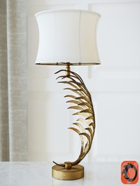 Metal Palm Frond Table Lamps