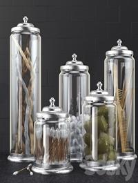 Bathroom decoration jars set 2