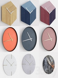 Collection of wall clocks Bolia