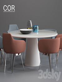 COR Roc chair and Conic Table