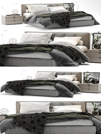 Modern style bed model combination