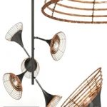 Pendant Lamp Rattan 5-lite