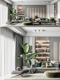 Modern light luxury living room
