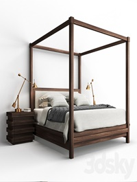 Restoration Hardware STACKED Bed and Nightstand