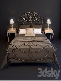 Bed EPOQUE Ciacci Classic 1027 table Giusti Portos Rene lamp Eurosvet 10054/1