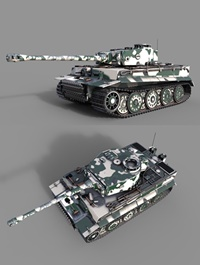 Tiger 1 Tank ww2 German Army 3D model