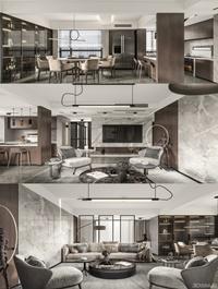 Modern minimalist restaurant kitchen