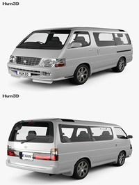 Toyota Hiace Passenger Van (JP) 1999 3D model
