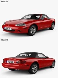 Mazda MX-5 convertible with HQ interior 1998 3D model