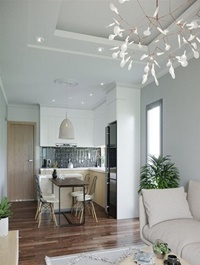 Living Room & Kitchen by Dang Quang