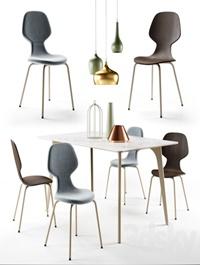 Pode Chiba chair Hux table Tonincasa lamps and decor