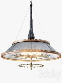 Grand 1800s Wheeler Mirrored Lamp