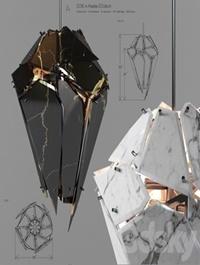 Edie marble chandelier