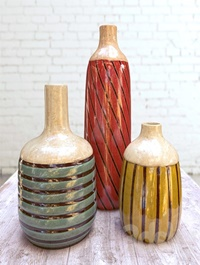 Rio Franco Ceramic Vases Set of 3