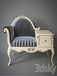 Armchair with telephone table Milano 8802