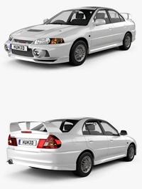 Mitsubishi Lancer Evolution 1997 3D model